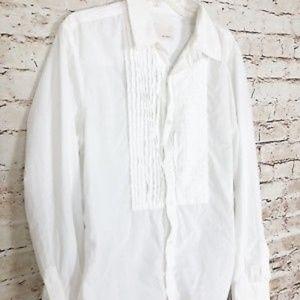 Band of Outsiders Button Down Shirt SZ XL White